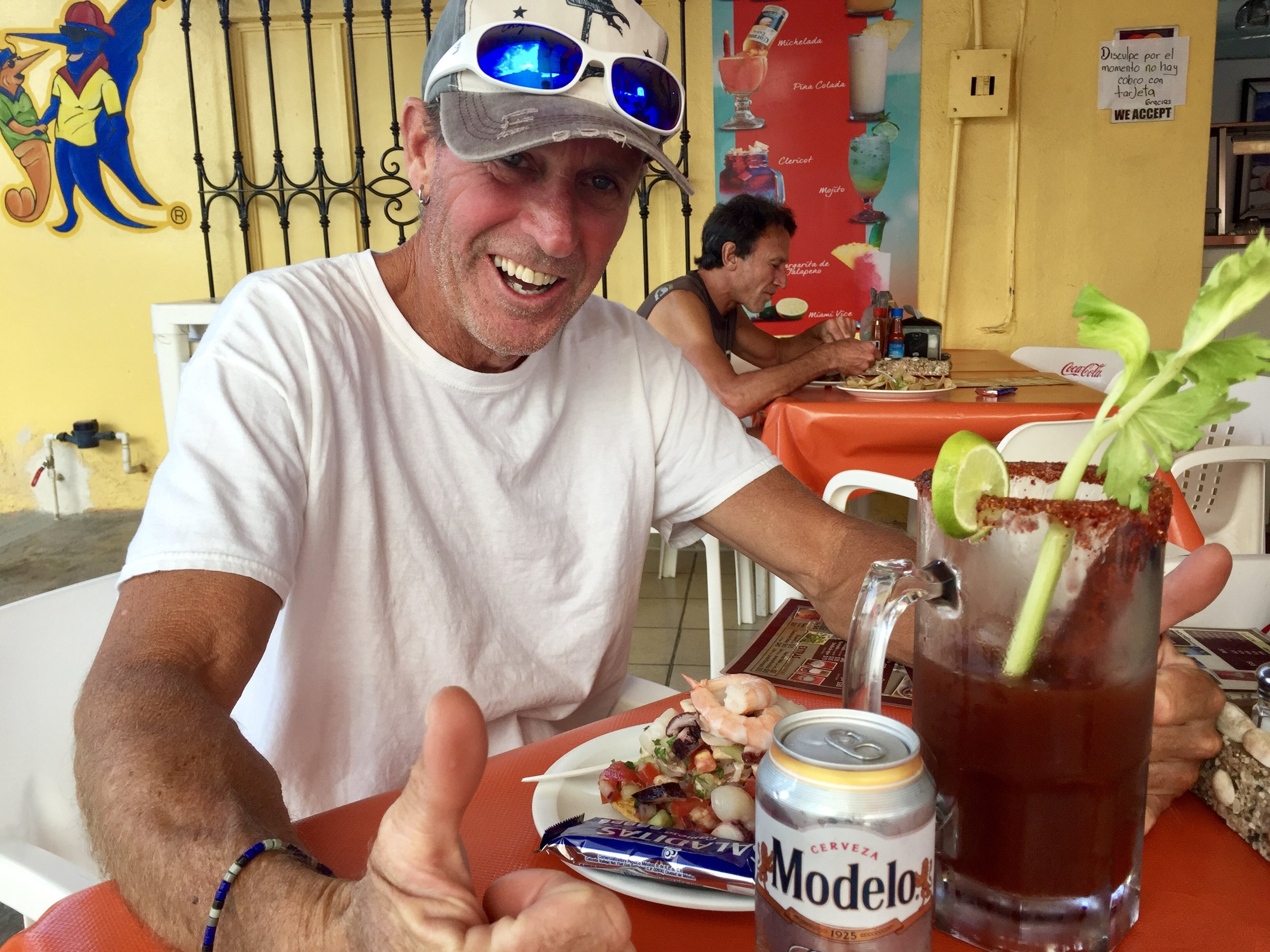 We have our priorities straight. First: ceviche and micheladas.