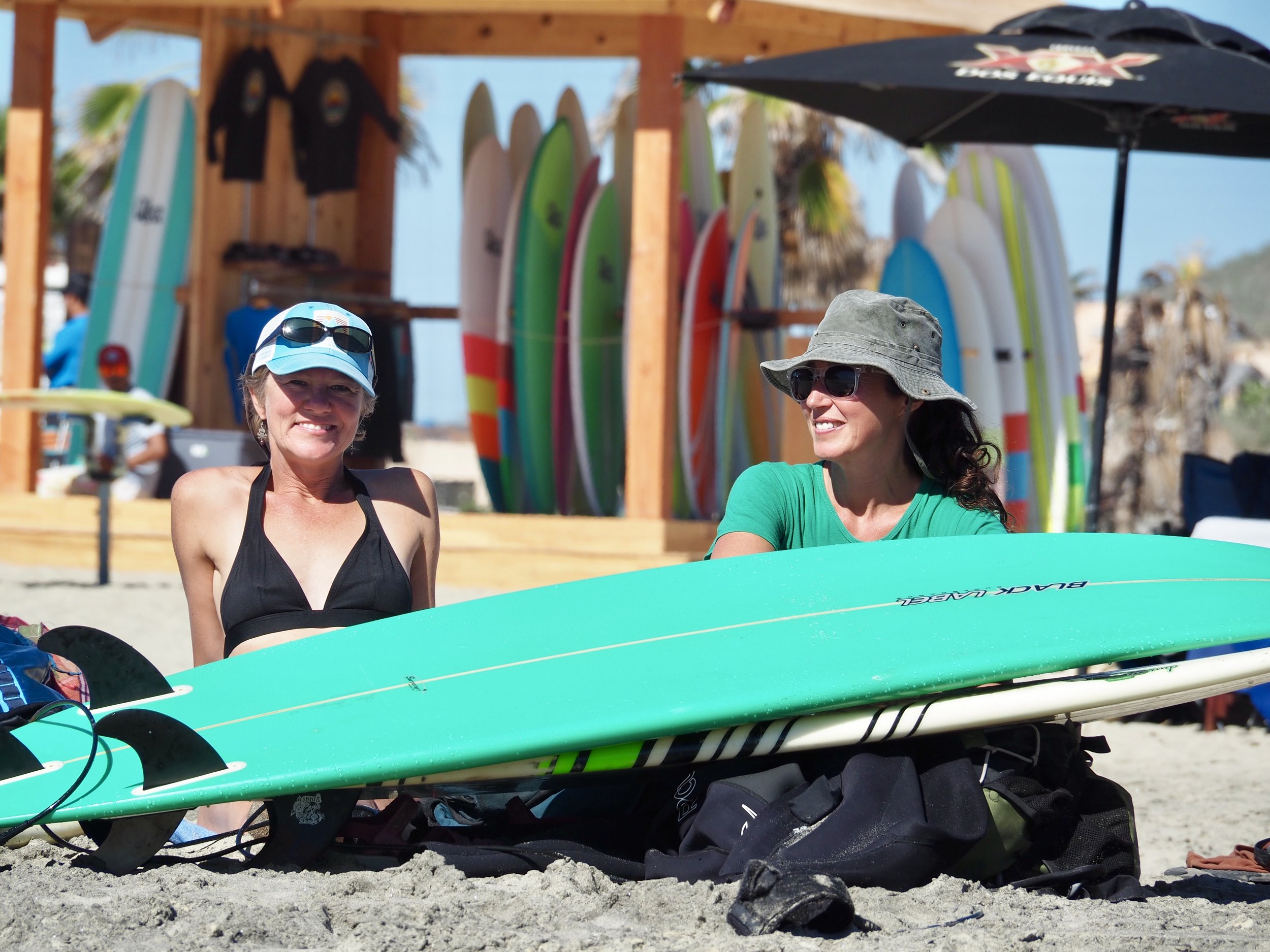 With Heather of  SV Nanatuk  on a surfing excursion to Todos Santos. Thanks so much guys for making such an unforgettable day happen! And for making sure we'd never forget the difference between  alta  and  alto !