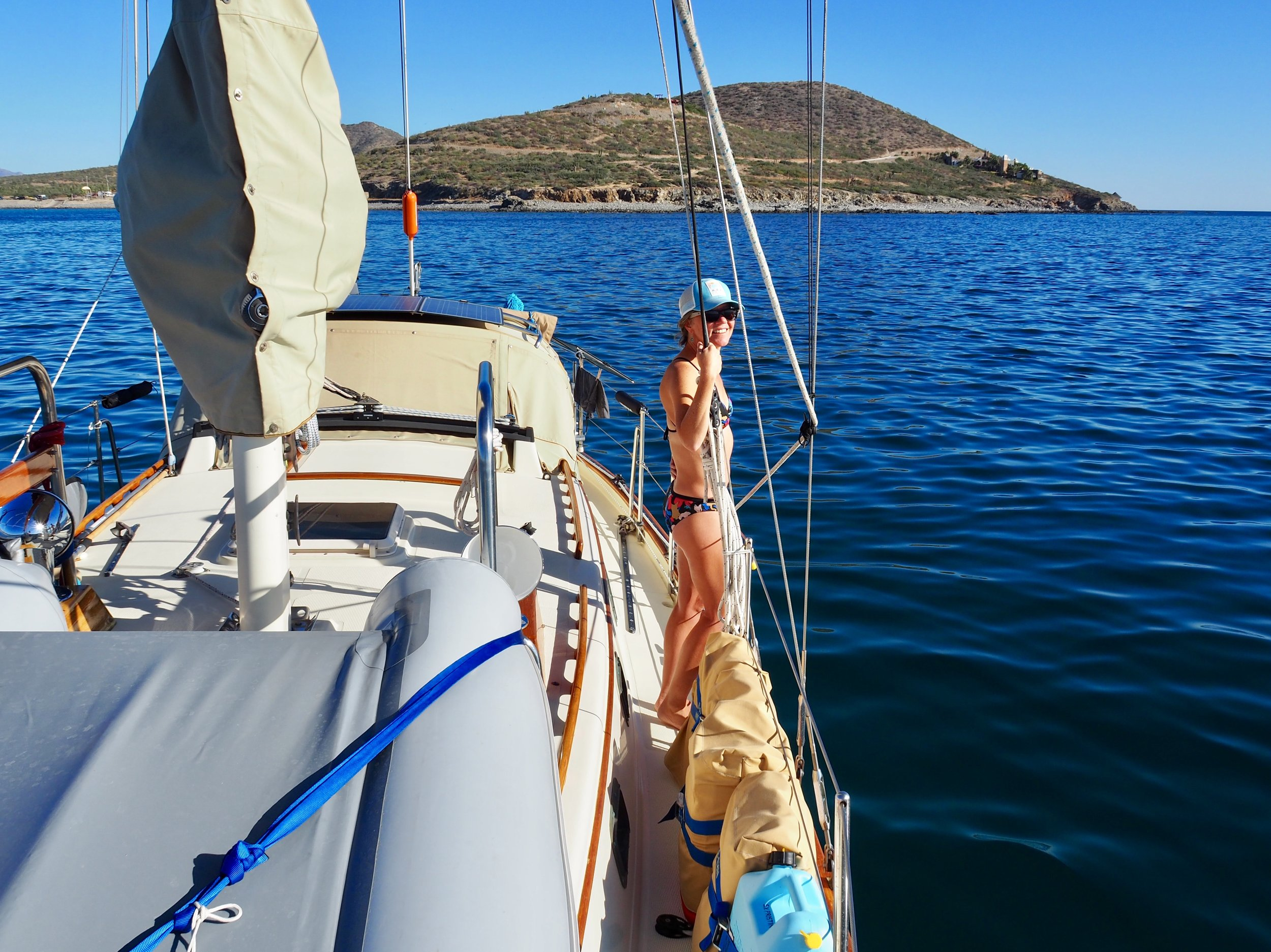 Anchored at Bahia de Los Muertos, waiting to cross