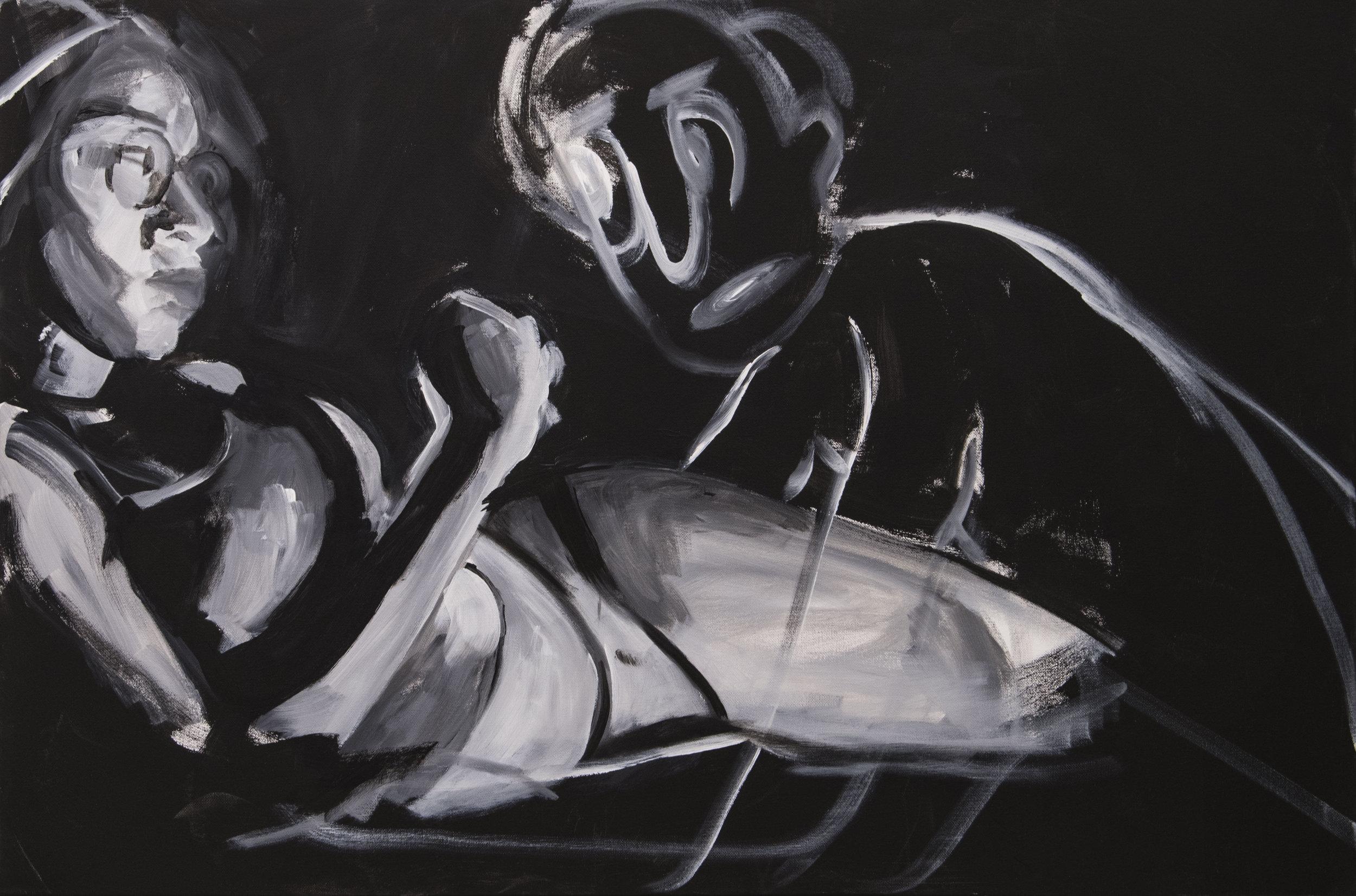 """Recurring Dream"" 2018 (30""x40"") Acrylic on Canvas"