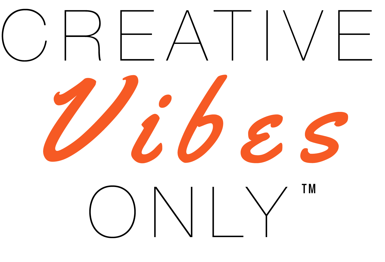 BLACK Creative Vibes Only logo Vector.png