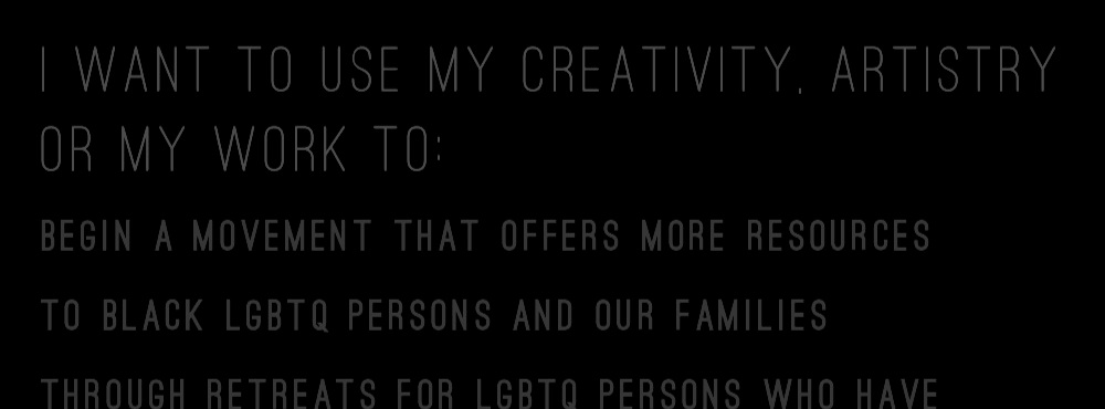 creative manifesto's - from LGBTQ+ artists, creatives, creative entrepreneurs and more!