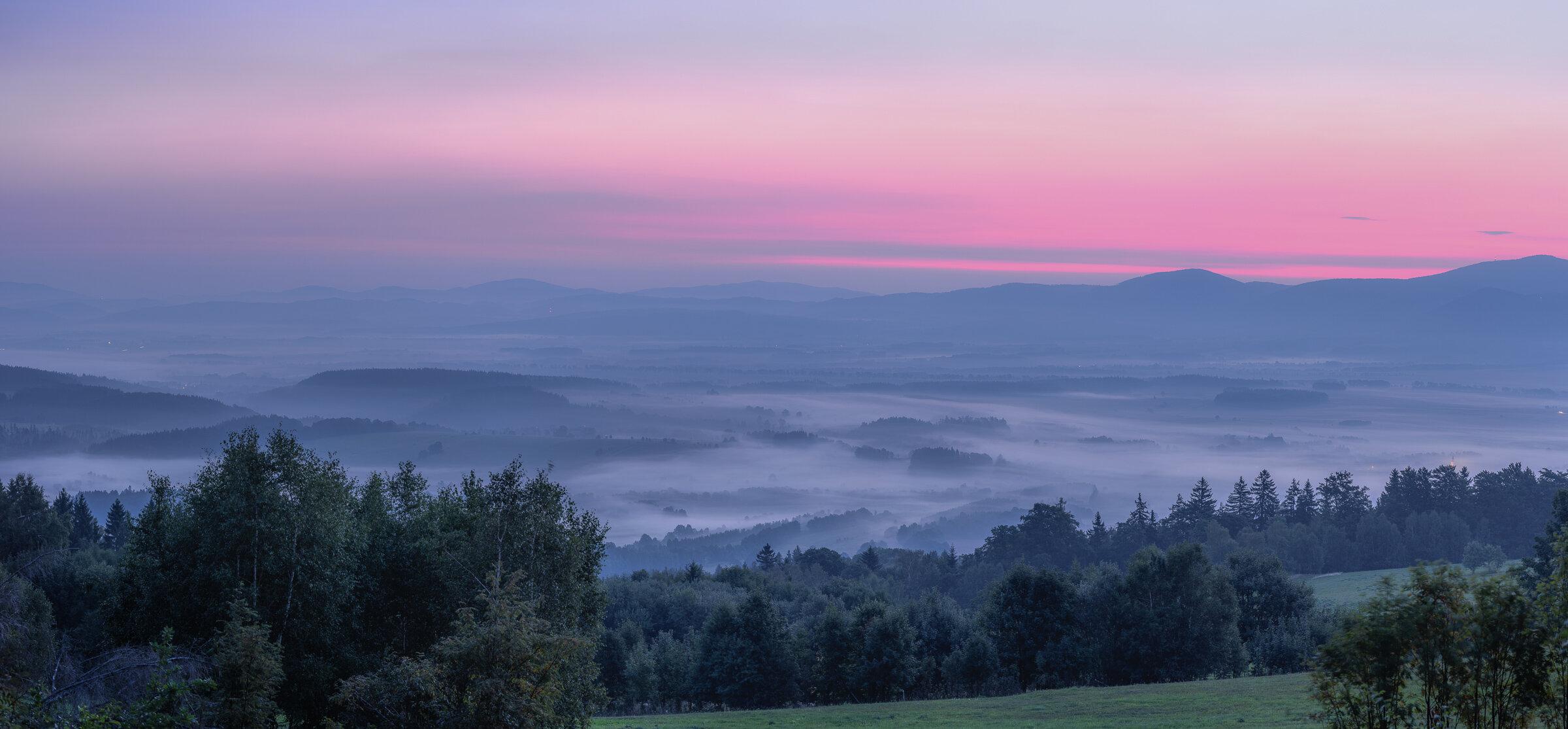 Panorama na Długopole i Czarną Górę