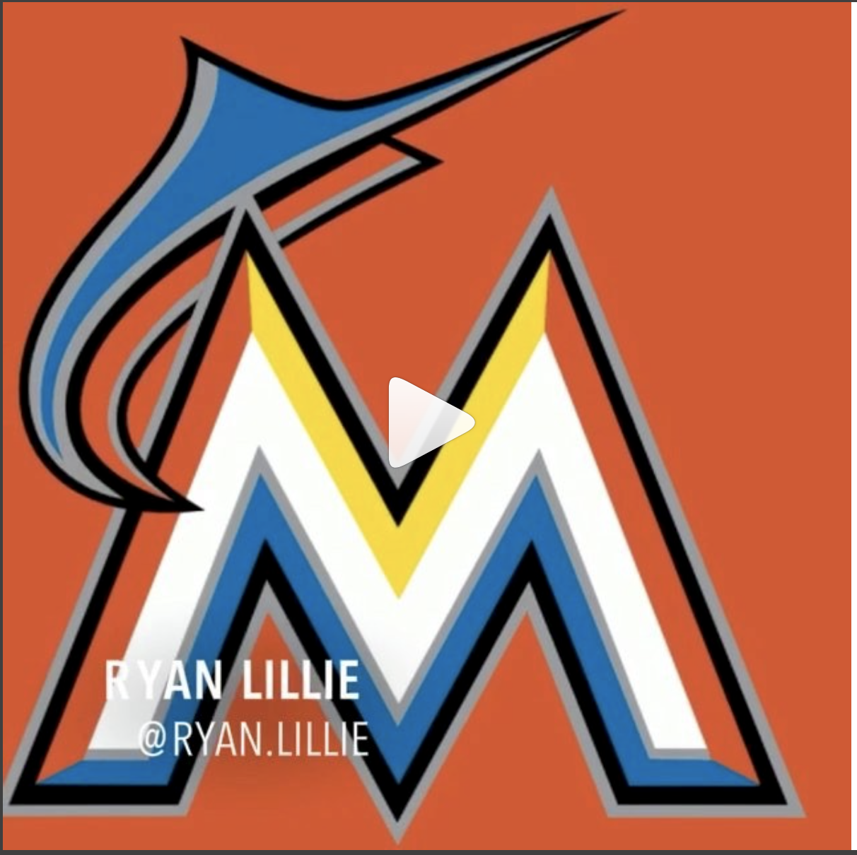 "Ryan Lillie   Miami Marlins - @ryan.lillie""Be coachable, always listen, respect your teammates and all will be good"""