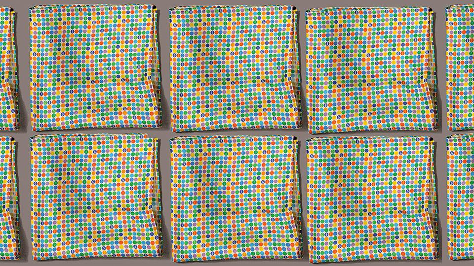 The final pocket square design