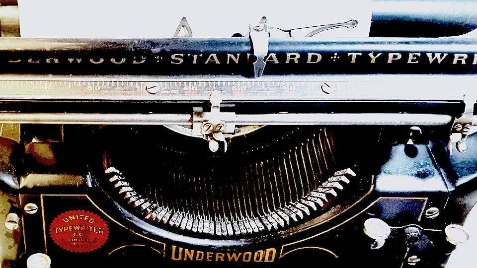 My No. 3 Underwood Typewritter as an inspiration source for the project, Click to enlarge.
