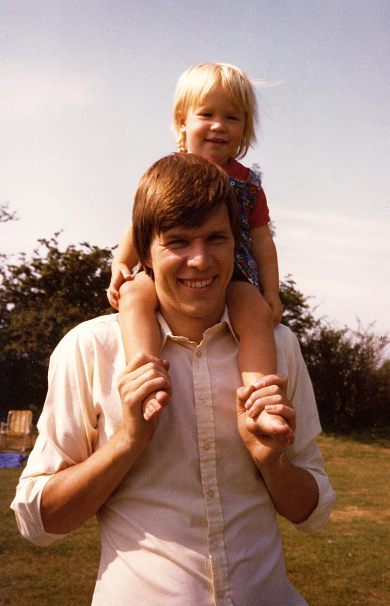 My father and I during the early 1980s