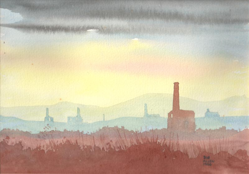 Engine House Watercolour by Bob Allen - 1990