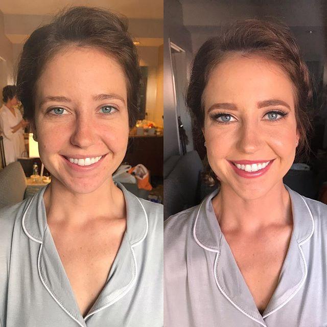 Cool tones for this blue eyed babe ✨  Makeup by me @emilybellamakeup  Hair by @prettyweirdbeauty - - - - - #mua #novamua #dmvmua #dcmua #bridalmua #bridalmakeup #bridesmaids #bridesmaidhair #weddingseason #novaweddings #makeuptransformation #beforeandafter #wakeupandmakeup #naturalmakeup #morphe #emilybellamakeup