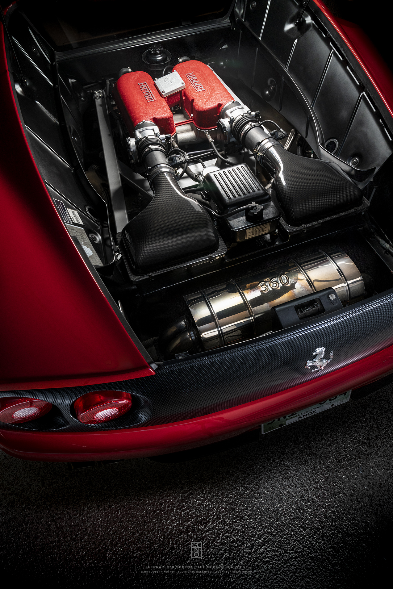 Ferrari 360 Modena The V8 Engine Vertical Limited Edition Joseph Nother