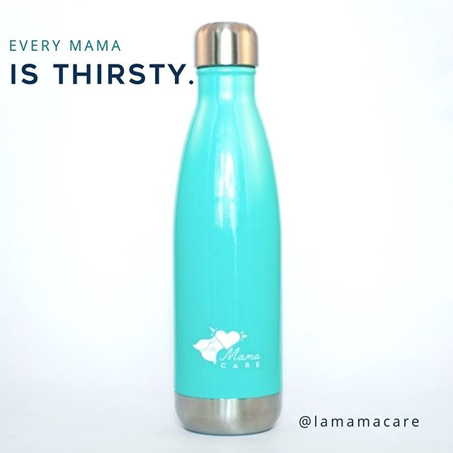 After we had babies, one thing we couldn't get enough of was H2O 💧 That's why we included this pretty turquoise water bottle in our Every Mama new mom care kit. It holds 20 oz. of cold water, fits perfectly in a standard cup holder and seals tightly so it won't spill as you balance 50 million things plus one gigantic car seat🤹🏽‍♀️ Link in bio to order the Every Mama Kit today!  #evensuperheroesneedsupport