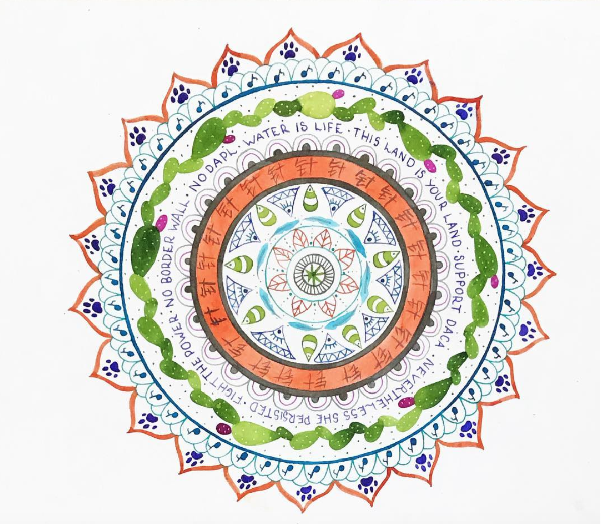 Mandala  illustration.  Click here to check out my Etsy!
