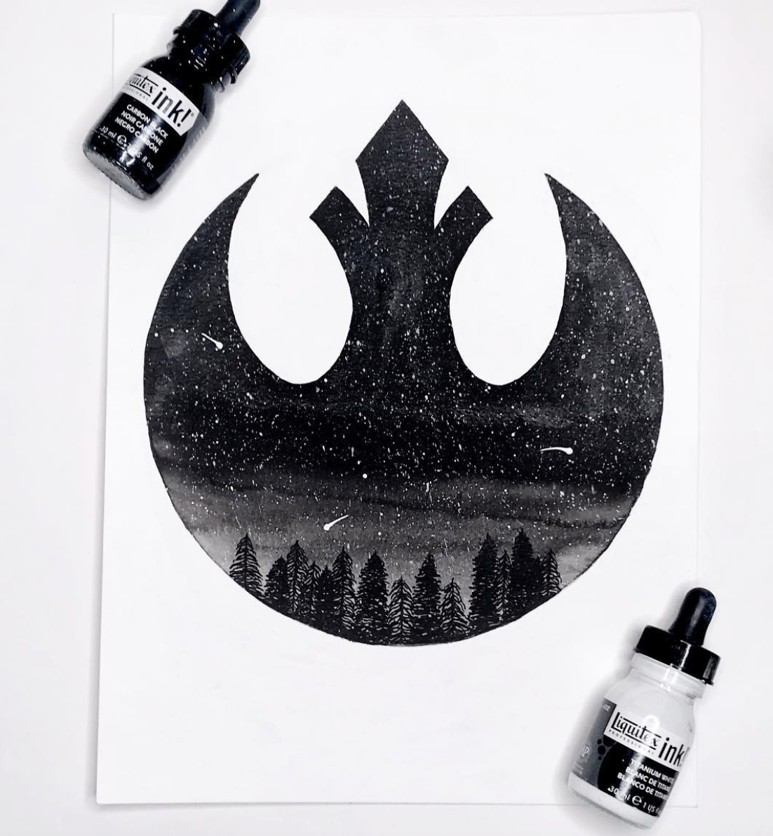 Rebel Alliance Galaxy Scene  illustration.  Click here to check out my Etsy!