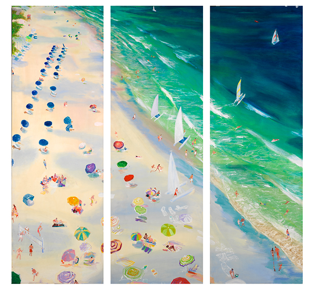 Nine Boats (triptych)