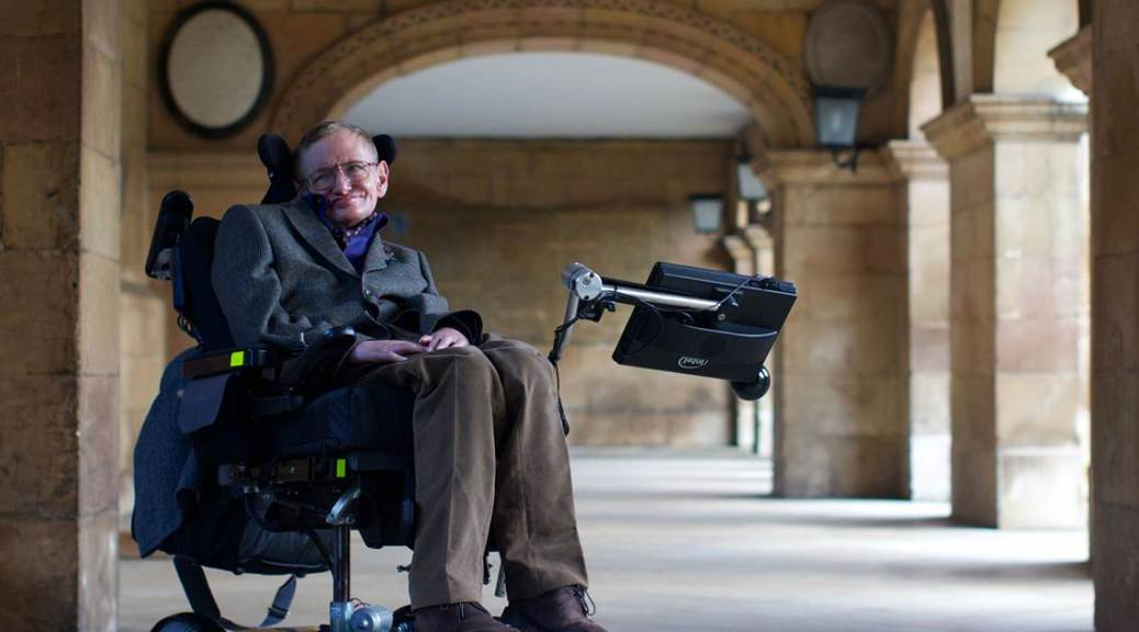 Stephen Hawking in Wheelchair.