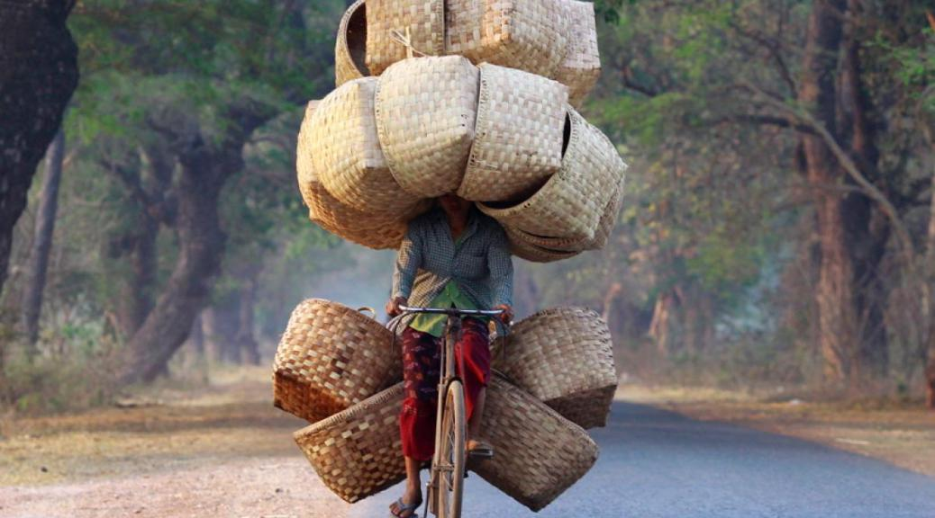 Baskets & Bicycle in Myanmar.