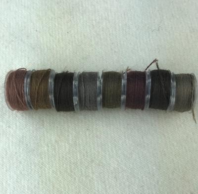 - Brown Bobbins - Aurifil Wool Thread - 8 Assorted Colors