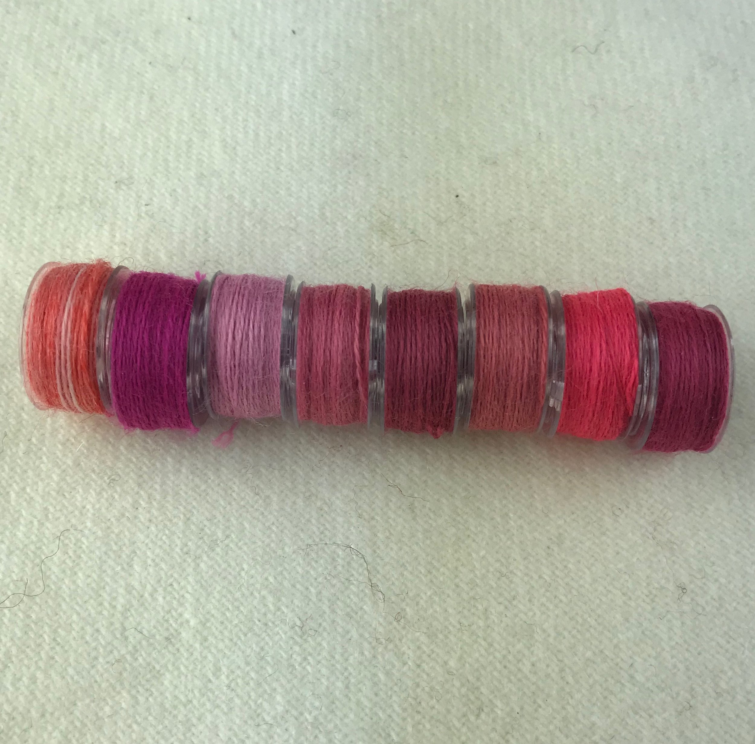 - Dark Pink Bobbins -Aurifil Wool Thread - 8 colors
