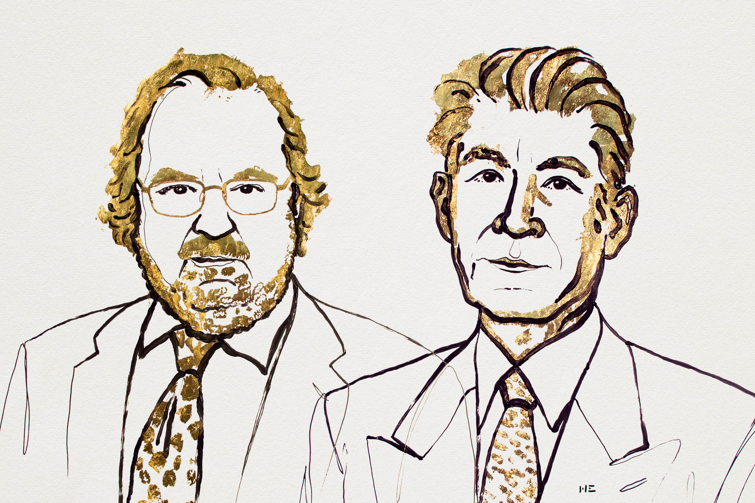 James P. Allison och Takusu Honjo. Illustration: Niklas Elmehed
