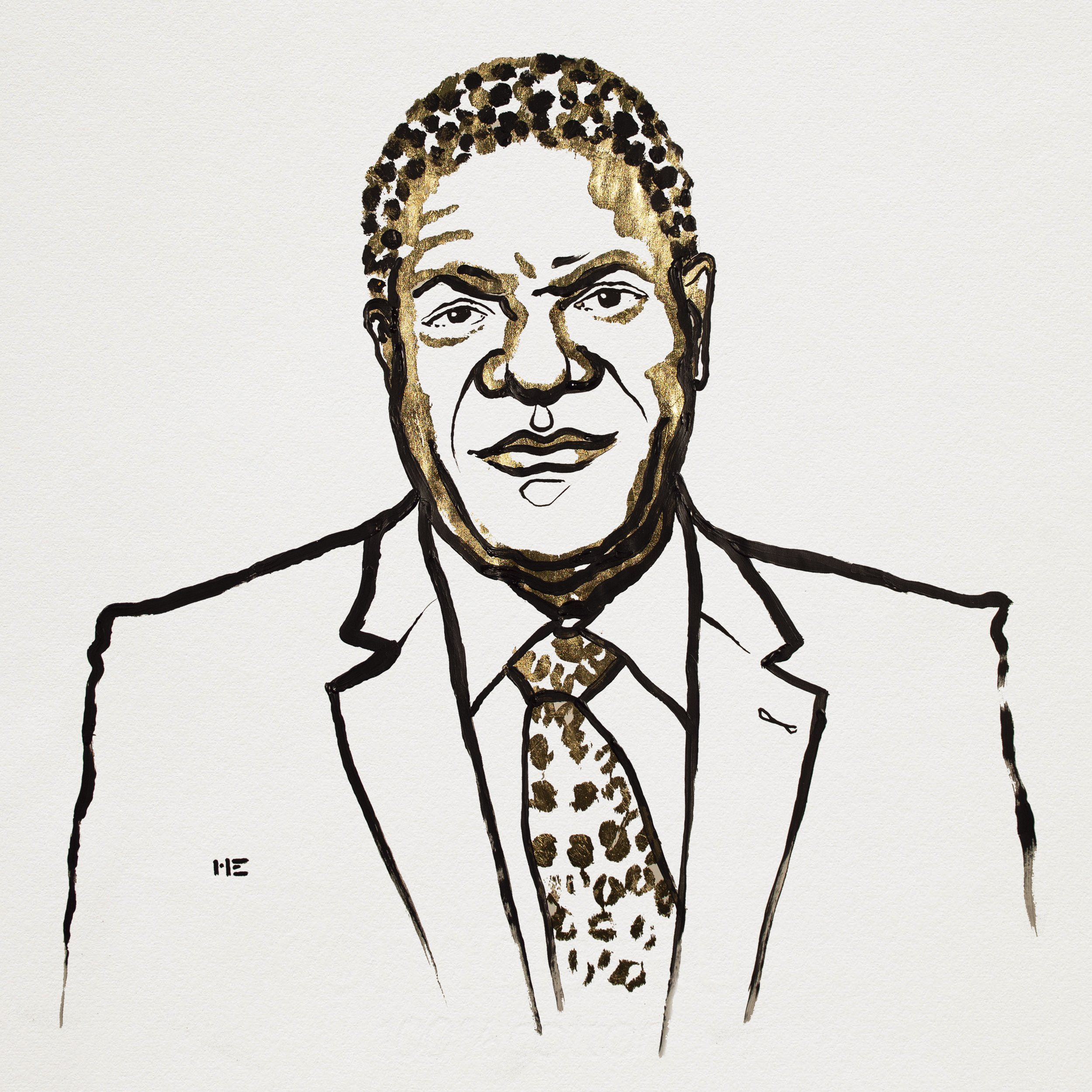 Denis Mukwege. Illustration: Niklas Elmehed