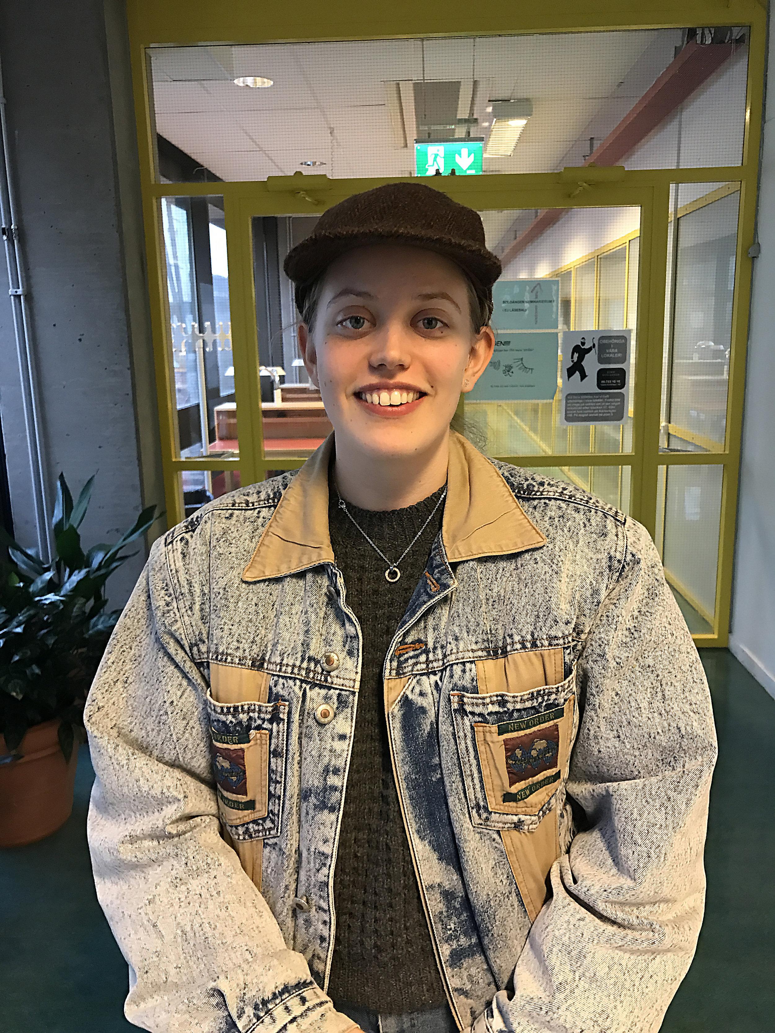 Elin Nordlund, 20. Journalistikstudent.