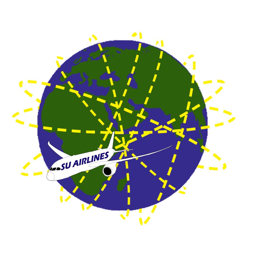 SU - totalt antal varv runt jorden på ett år* - 2018 flög Stockholms universitet 1 209 varv runt jorden.2017 flög Stockholms universitet 1215 varv runt jorden.2016 flög Stockholms universitet 1110 varv runt jorden.*Uppgifter hämtade från SU:s resebyrå, BCD Travel.