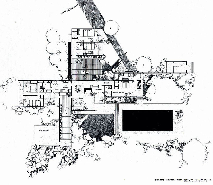 Five Things You Should Know About the Kaufmann Desert House ... on the chadwick floor plans, side breeze floor plans, kaufman house diagrams, palm springs house plans,