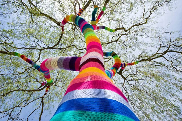 From   Getting Bombed in Boise: Yarn Bombing and Libraries     by Ruth Patterson Funabiki
