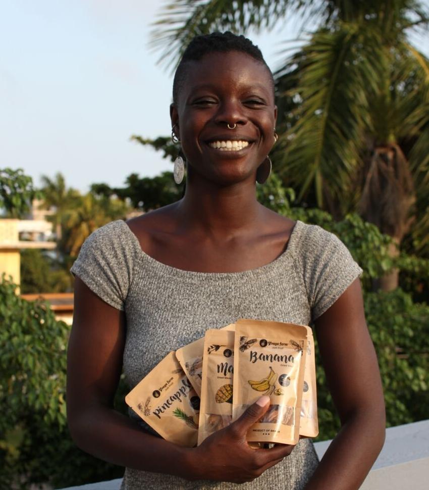 Yvette Tetteh, founder of Yvaya Farms.