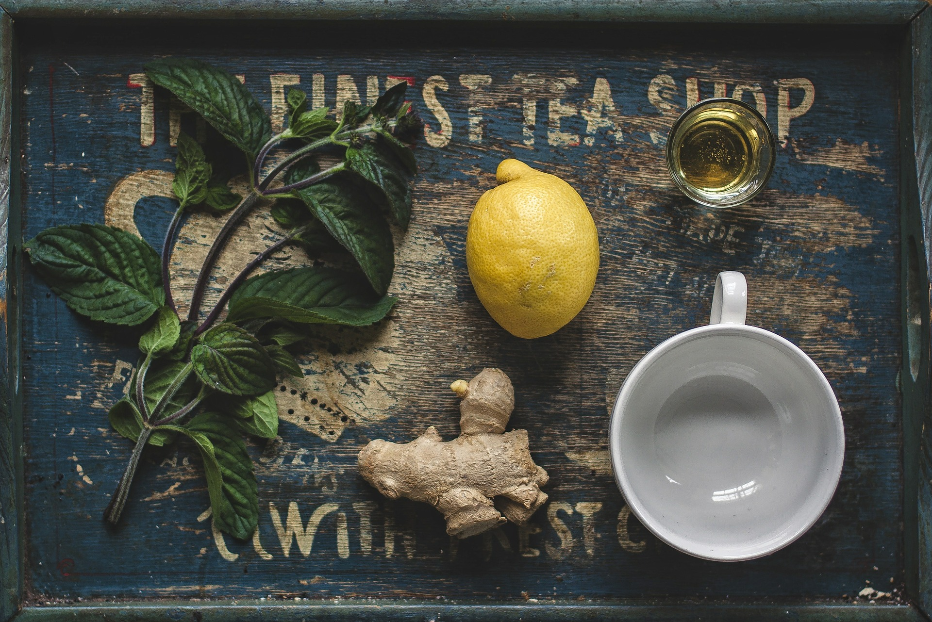 Plan out your ideal self-care day. Pictured: Lemon ginger tea ingredients.