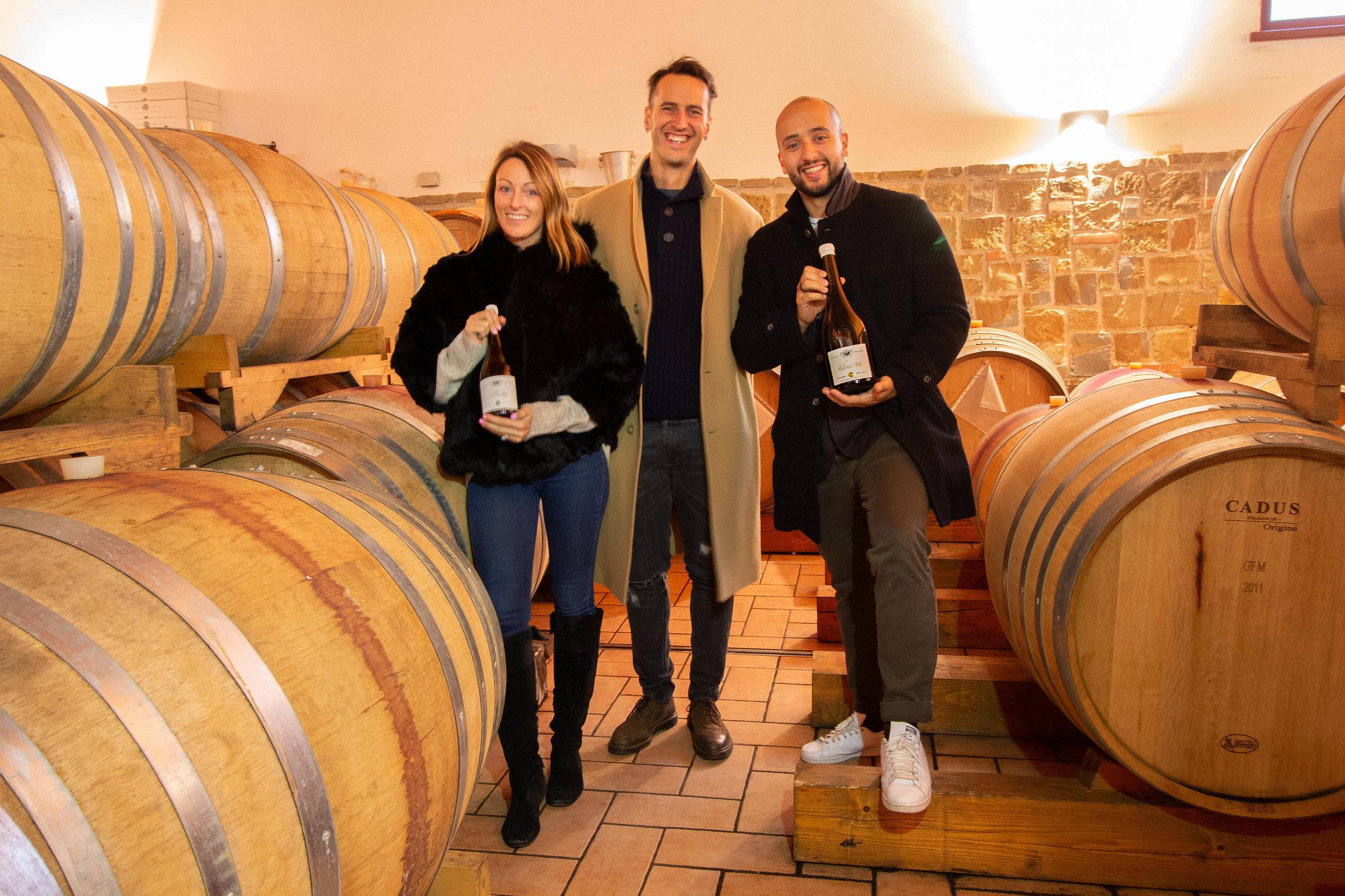 Emily Corazza, Alex Corazza and Patrick Corazza: co-founders of Friuli Italian Wines.
