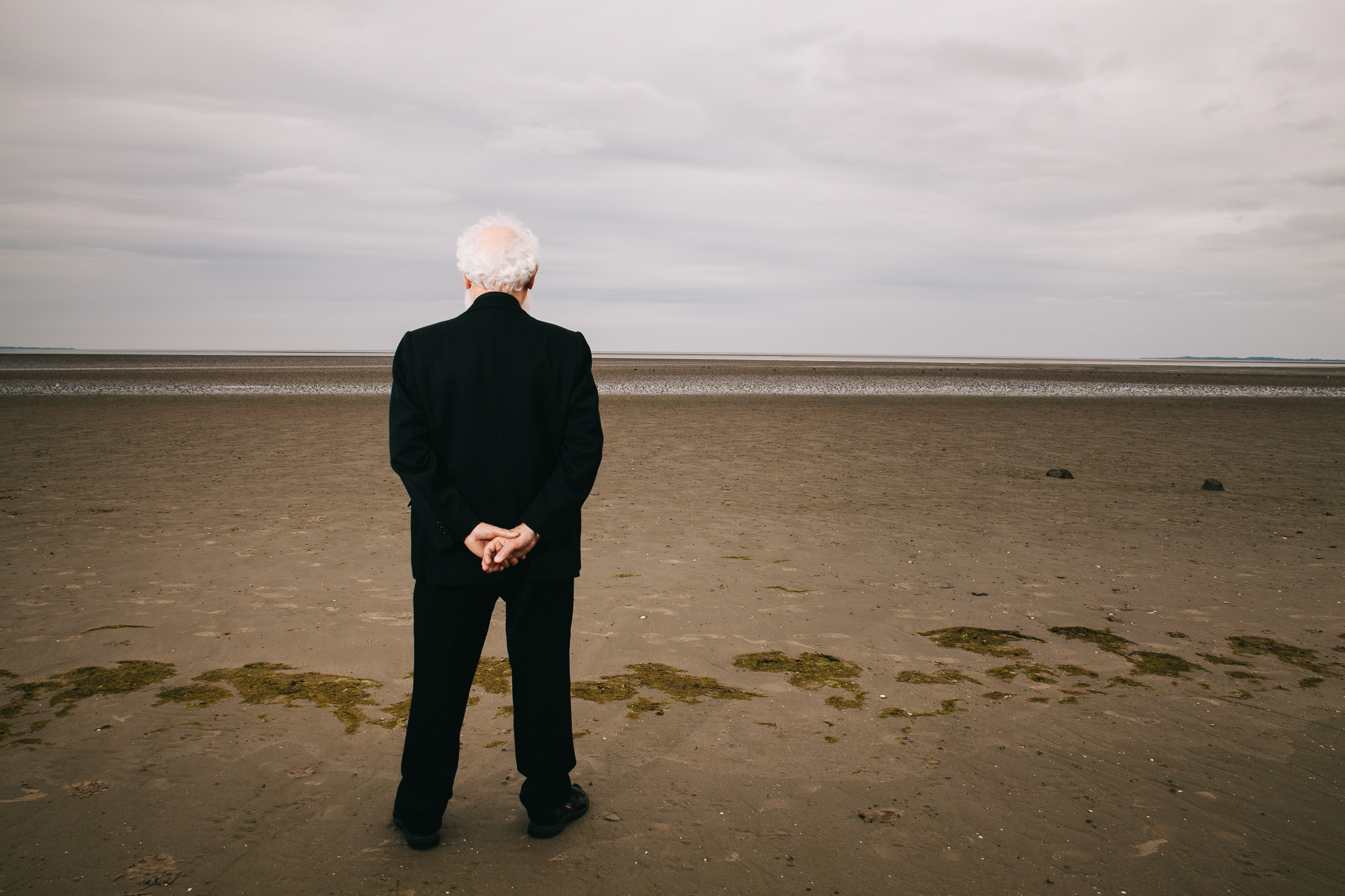 Pondering Eternity - It was here that I took my final photo to finish our day together. As he stood on ''The Priests' Beach'' pondering eternity, a sudden Divine sorrow mingled with joy came over me that today of all days was (as Fr.Maher always puts it) ''A Divine Appointment''.