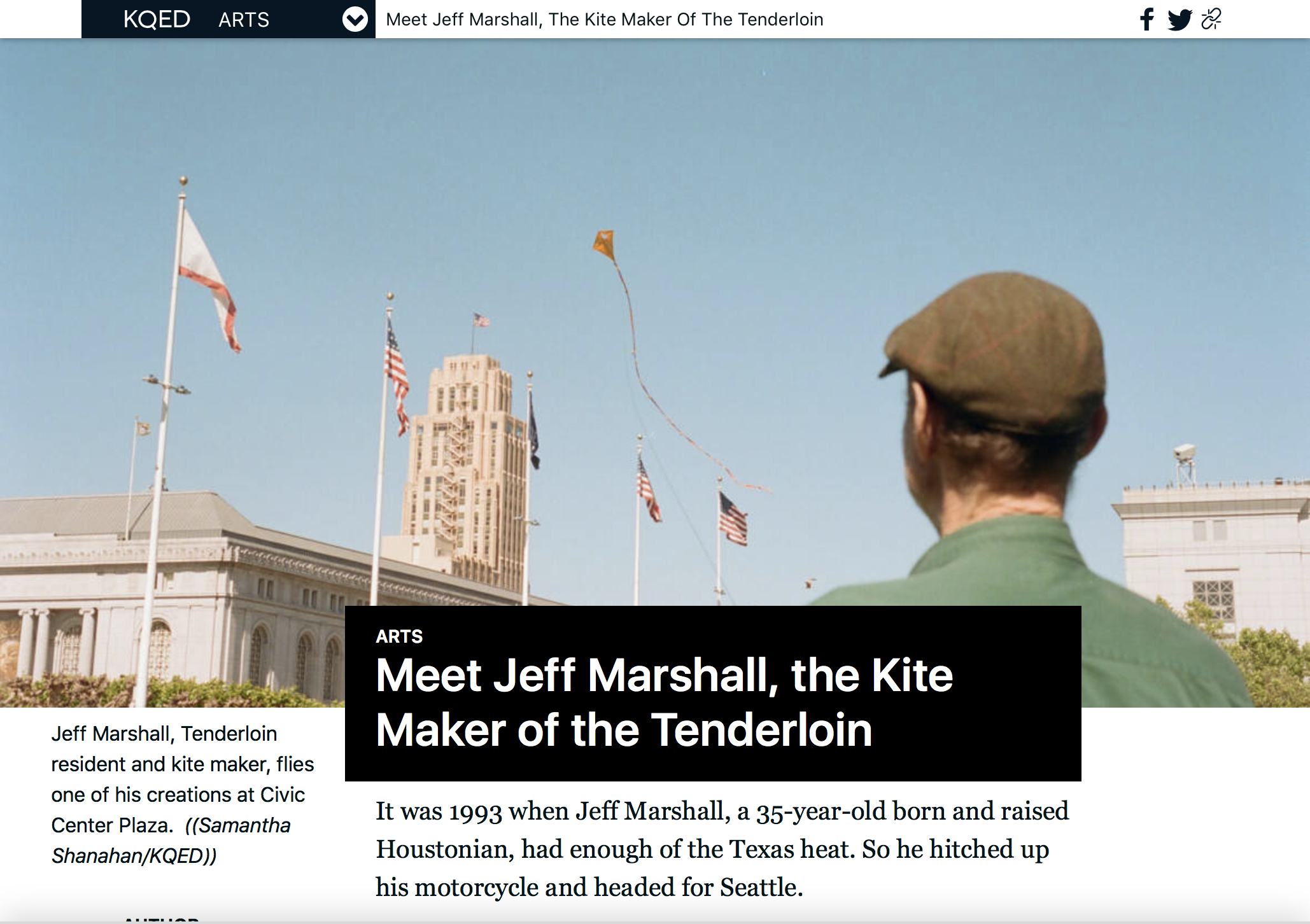 (KQED/Arts): Meet Jeff Marshall, the Kite Maker of the Tenderloin
