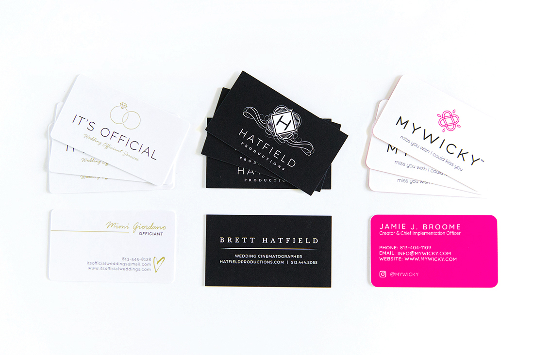 Business Cards - First impressions make a huge difference!  With professional high quality business cards, you'll be sure to leave a good one.  Contact us at info@bjorkdesignco.com for more info and pricing!