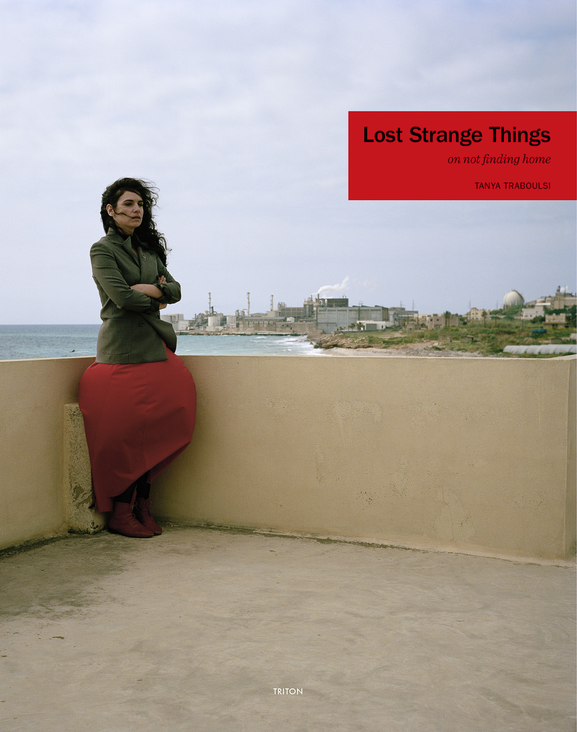 Lost Strange Things: On not finding home  Book   Lost Strange Things: On not finding home  is a monograph with images from the photographic series of the same title.The book assembles 116 photographs, many family photos and documents culled from the artist's personal collection and texts by Rayya Badran, Bariaa Mourad and Najla Said.  208 pages,20.5 x 26cm CMYK (full color) recto verso Exposed binding 300g Fabriano Offset soft cover 140g Fabriano Offset inside pages Published by  Triton in 2014 Designed by  Studio Safar  Edition of 500 Artist Edition of 10 + III AP  ISBN 978-84-943401-8-5  Permanent collections: Albertina, Vienna University of Applied Arts, Vienna Galleria Nazionale d'Arte Moderna, Rome The National Museum of XXI Century Arts, Rome
