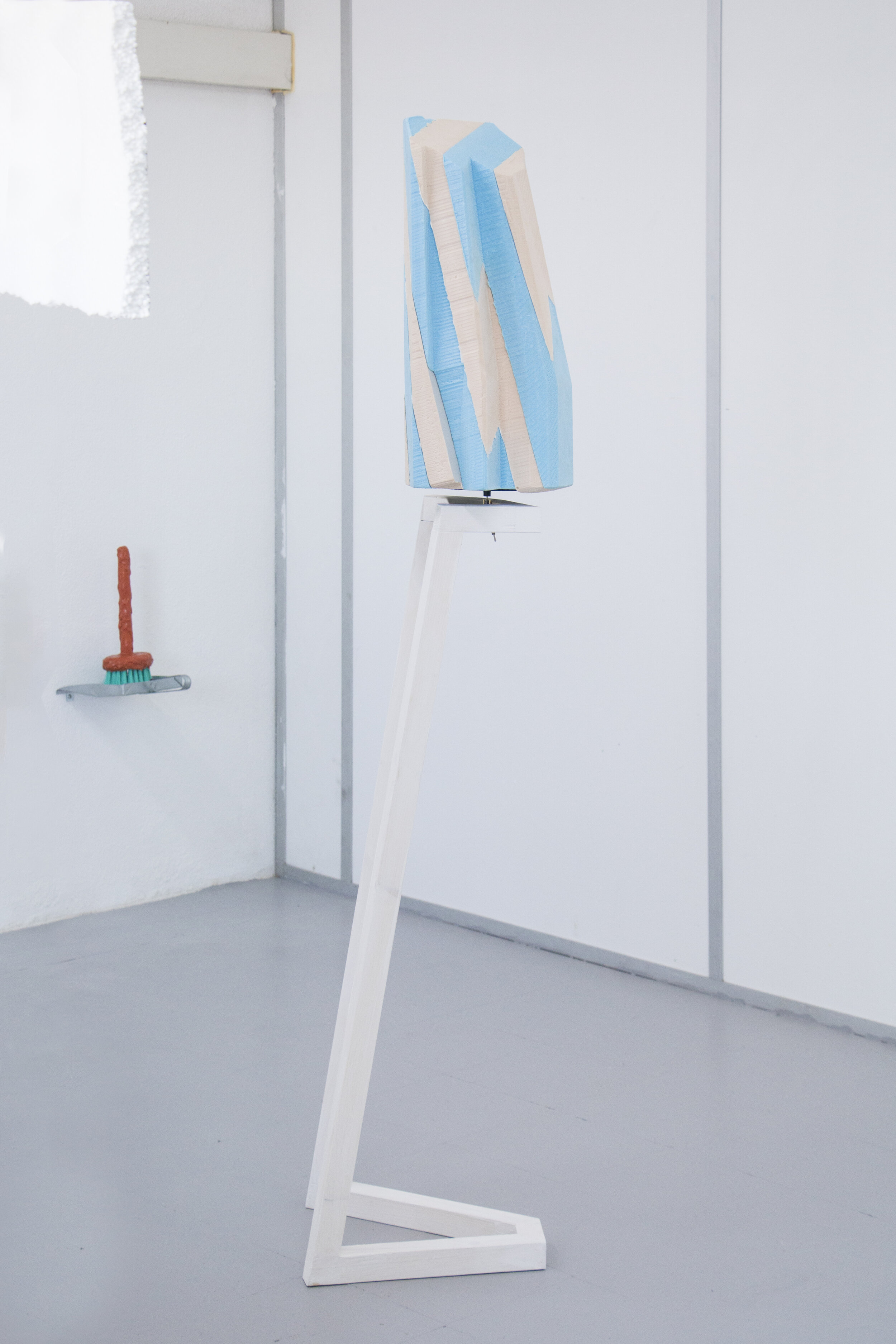Ti Prendo in Giro,  2019 Extruded Polystyrene (XPS) mounted on pine wood with engine 165 x 35 x 35 cm