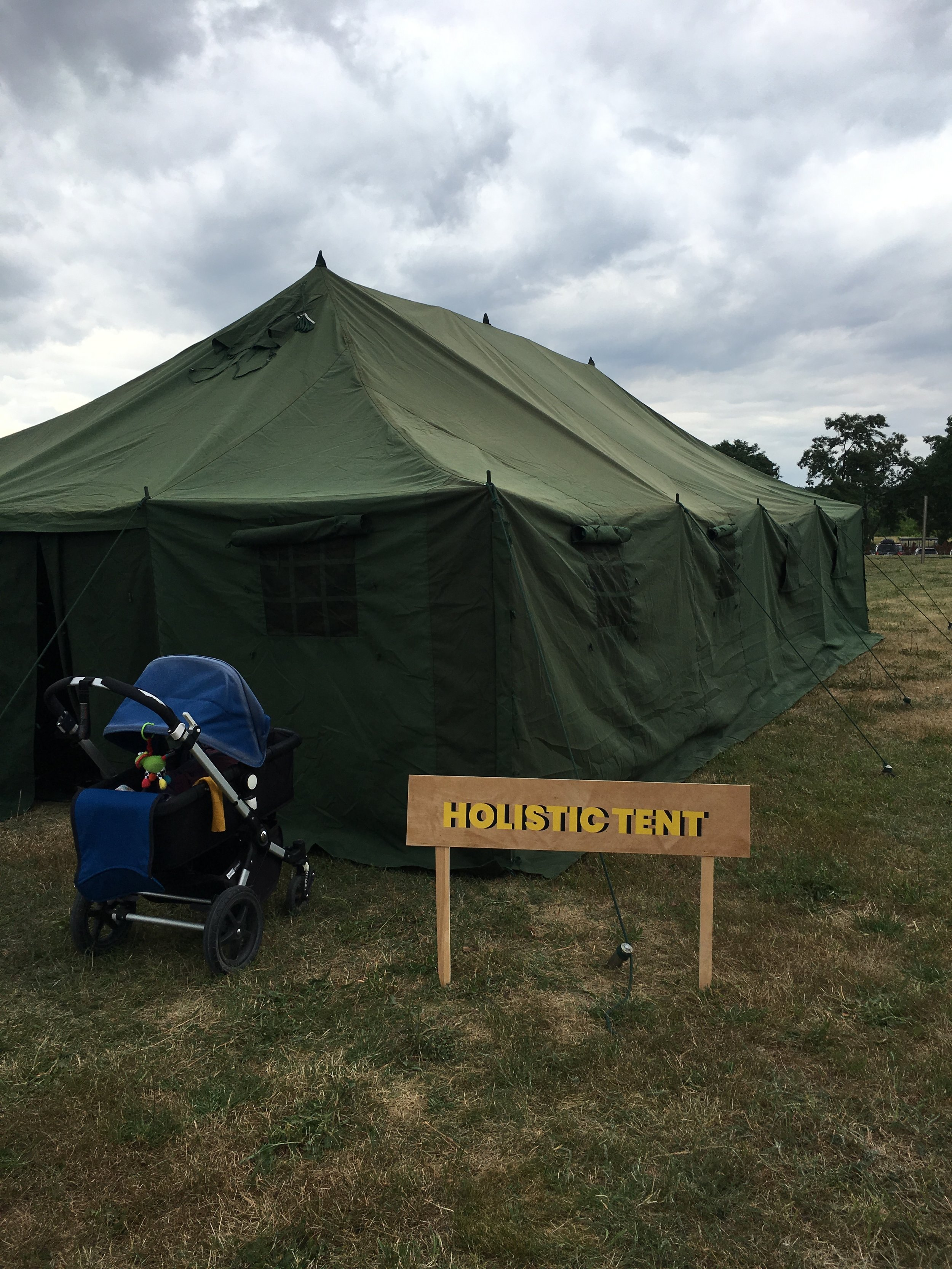 Holistic Tent  on site where both  Mycohood's  and WOMB's lectures took place.
