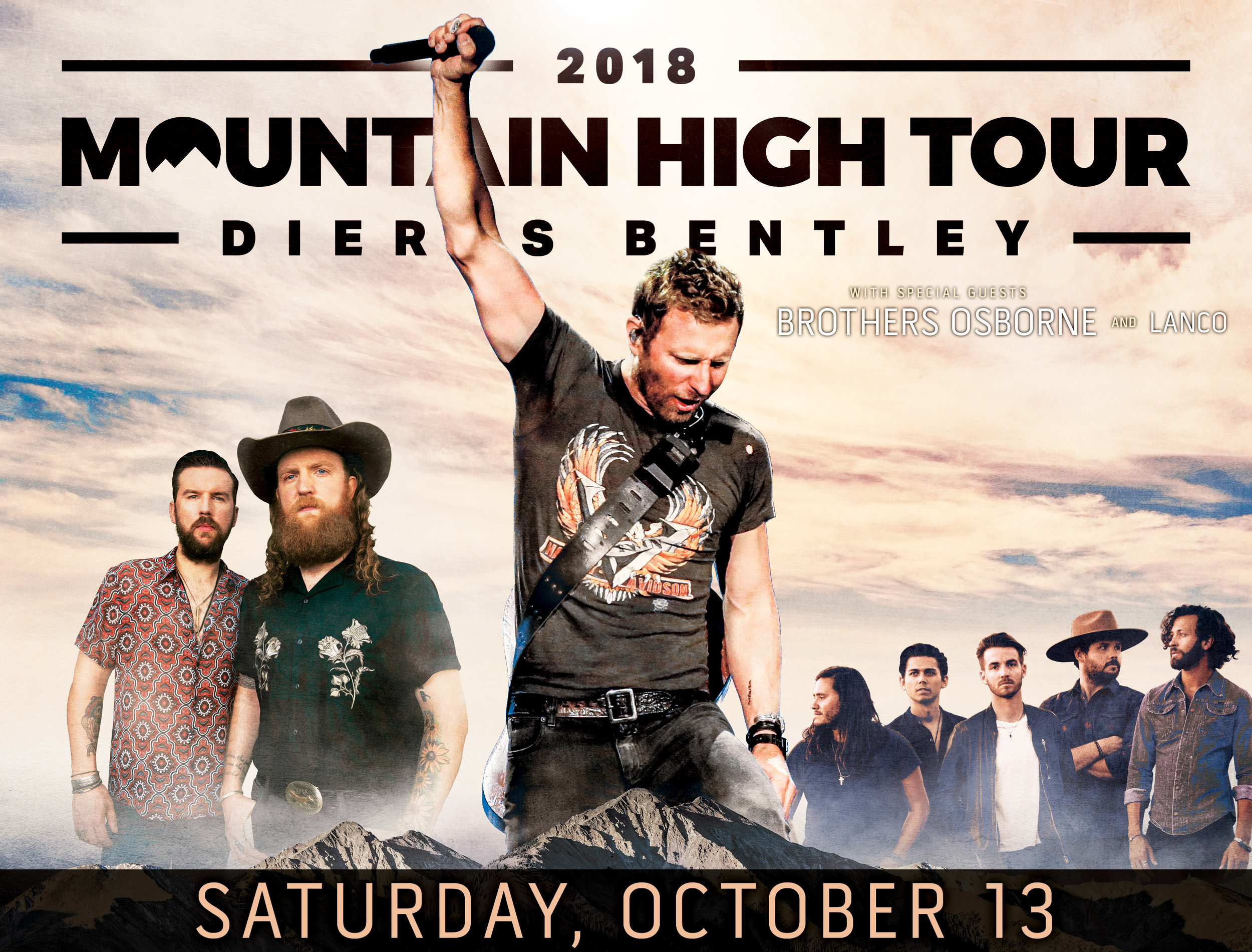 Dierks Bentley - w/ Brothers Osbourne & LANCOSaturday, October 13th | Doors: 5:30pm | Show: 7:00pm