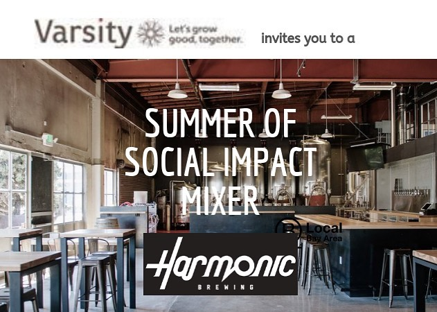 Don't miss the Summer of Social Impact Mixer, hosted by #bcorp Varsity Technologies, on Thursday 8/1 at Harmonic Brewing! Come to network with others in social impact, open to B Corps and anyone in #Impact! #socialimpact #happyhour RSVP link in bio.