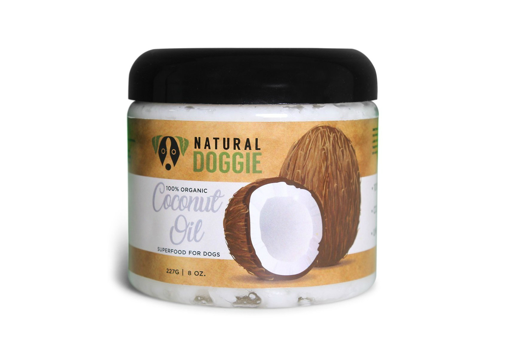 Virgin Coconut Oil - 100% unrefined coconut oil formulated for your pets allows you to supplement your pups diet with a natural super-food! Adding coconut oil to food is a delicious treat your dog will love, all while relieving allergy problems naturally. Can also be used to treat skin issues topically.