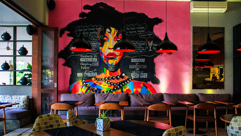 My writing location for today …. Grocer & Grind, Kerbokan, Bali