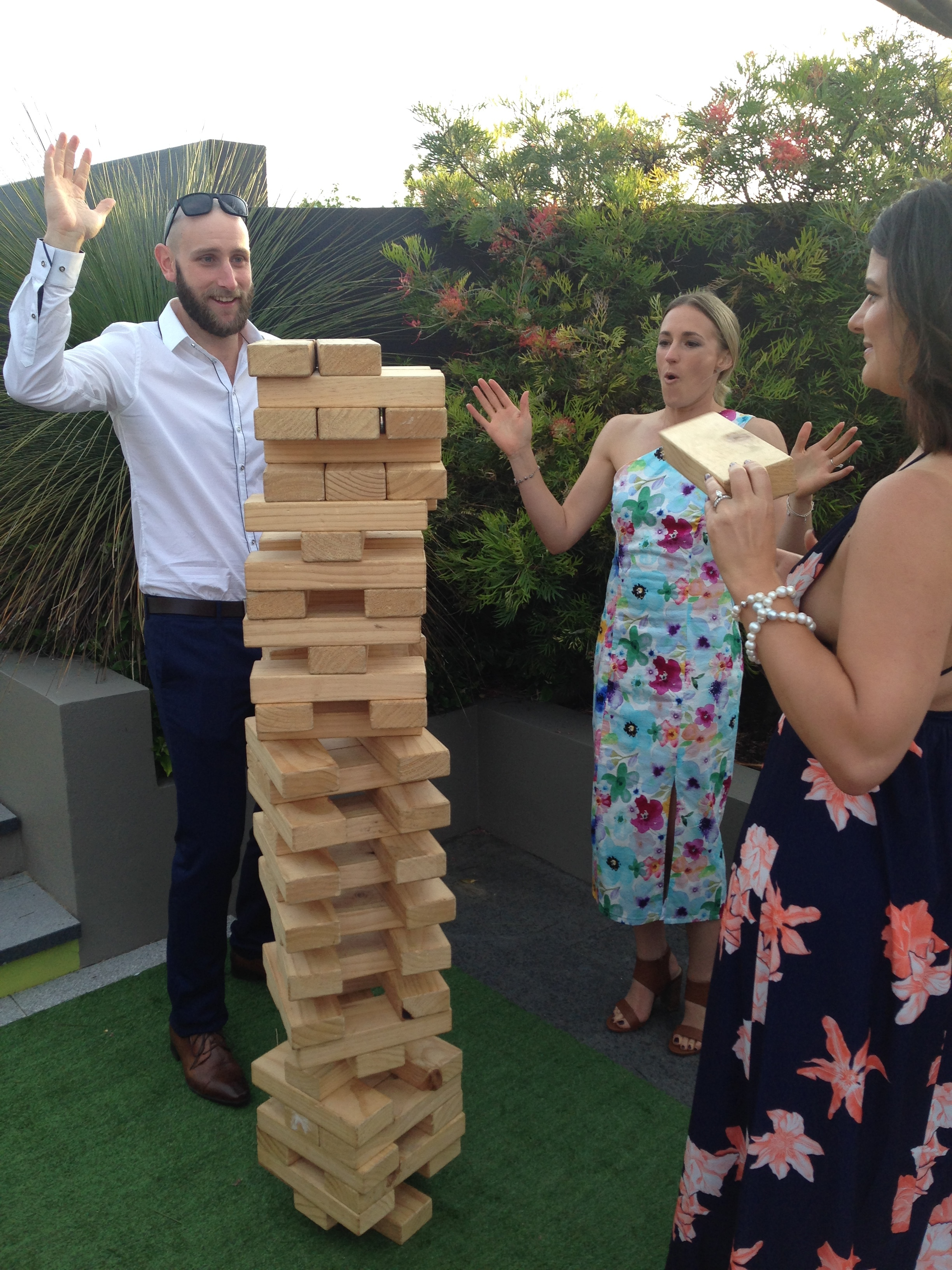 Giant Jenga Wedding