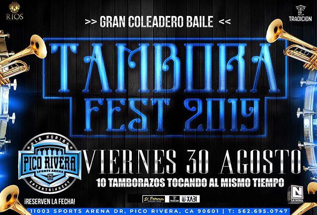Tambora Fest 2019 - Gran Coleadero y BaileViernes 30 de agosto 2019, 6:00 pm