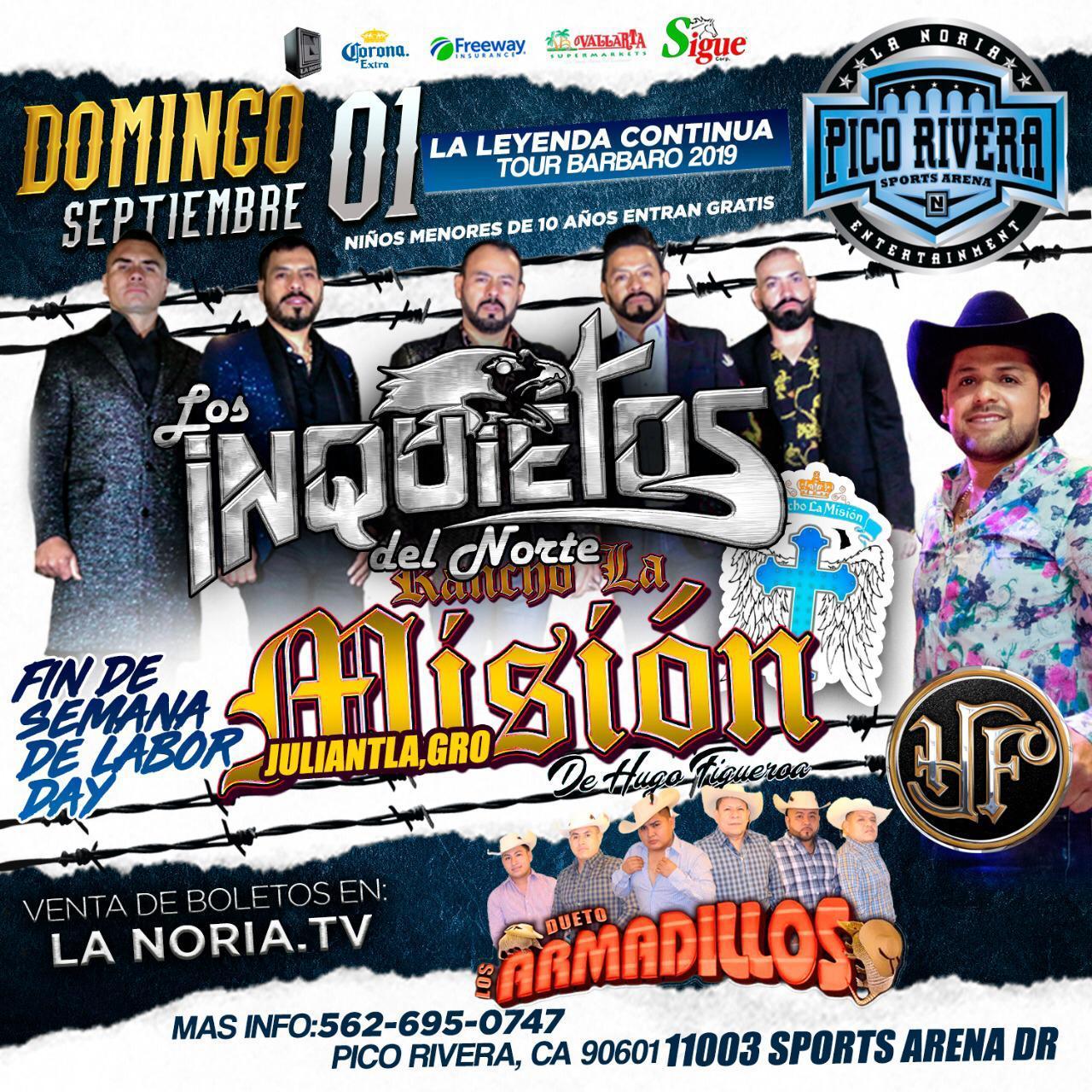RANCHO LA MISION DE HUGO FIGUEROA - LA LEYENDA CONTINUA.....Sunday, September 1, 2019, 1:00 pm
