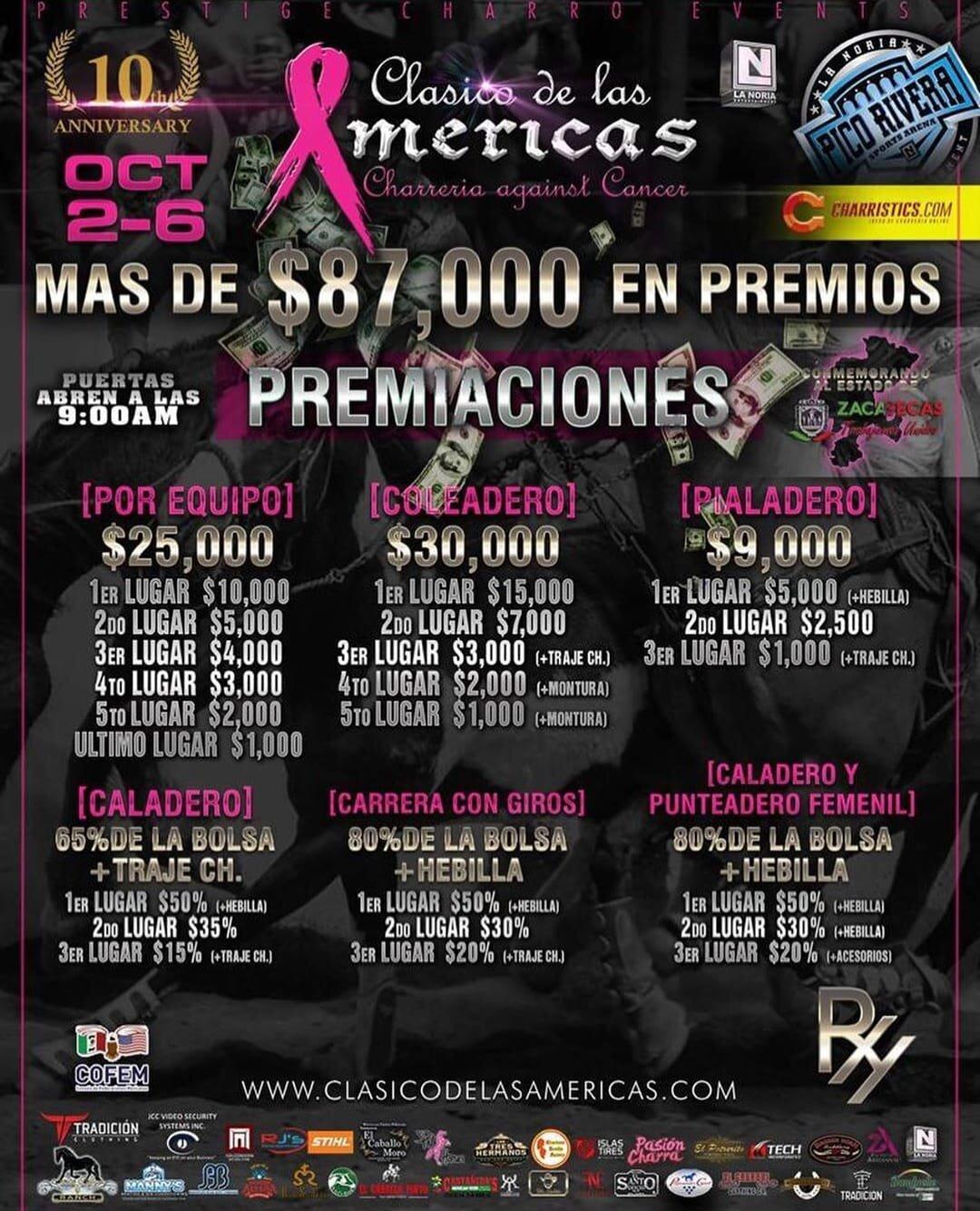 PREMIOS CLASICO DE LAS AMERICAS 2019 - DEL 2 AL 6 DE OCTUBRE 2019 2019