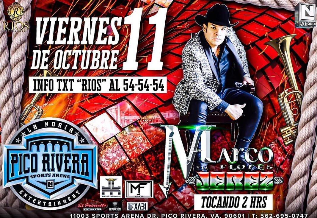 MARCO FLORES TOCANDO 2 HORAS - VIERNES 11 DE OCTUBRE 2019