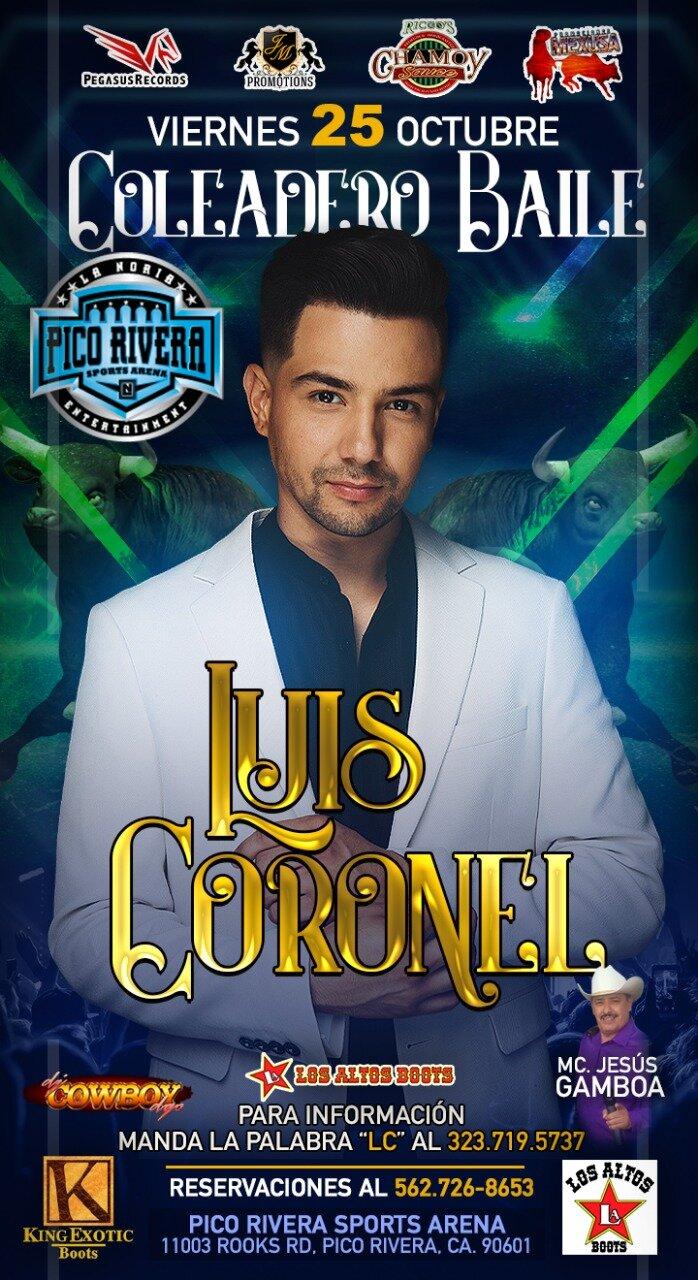 LUIS CORONEL - VIERNES 25 DE OCTUBRE 2019