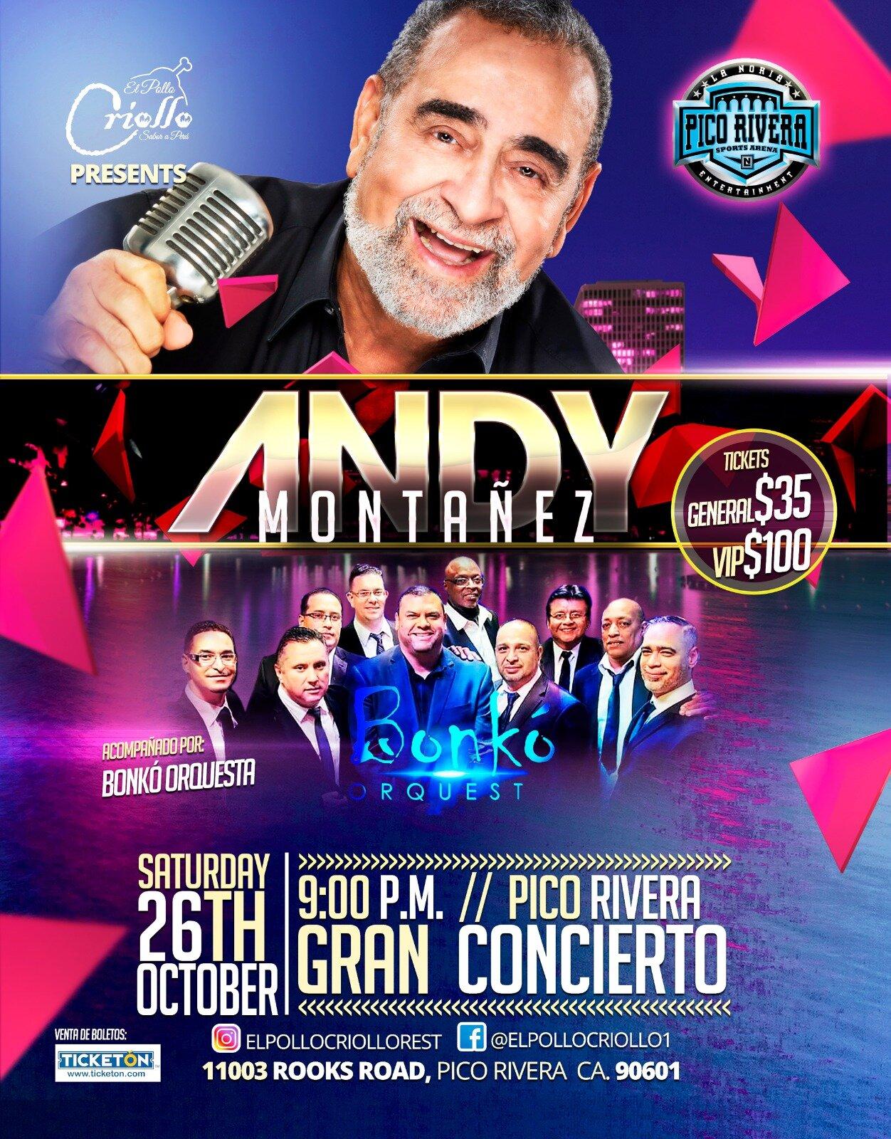 ANDY MONTAÑEZ - SÁBADO 26 DE OCTUBRE 2019