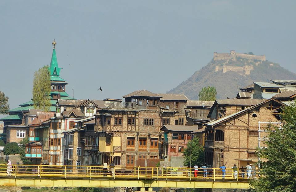 Srinagar Old Town and Hrai Parbat Fort