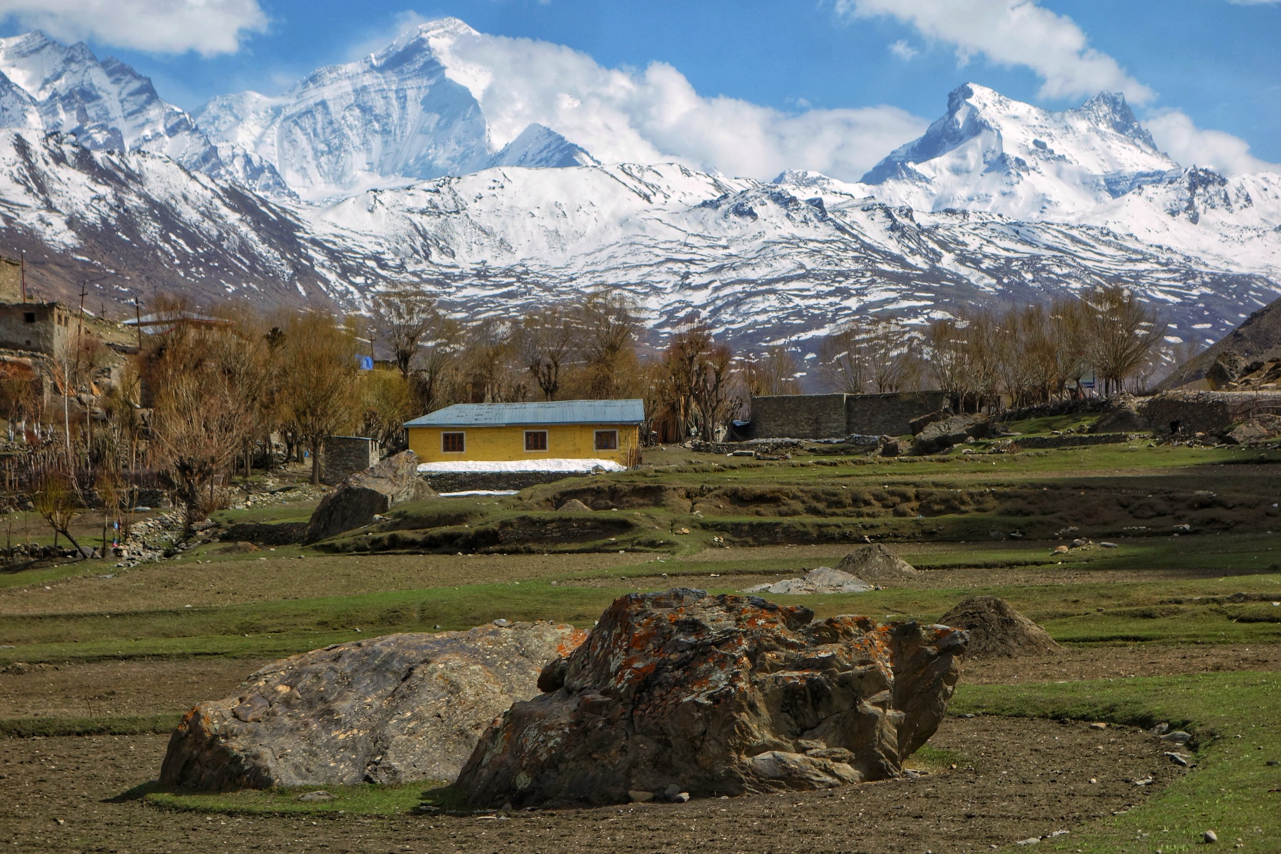 The Highest Himalayan Peak in Ind,an controlled Territory in Jammu and Kashmir, Mt.Nun at 7135 m (23409 ft) amsl.